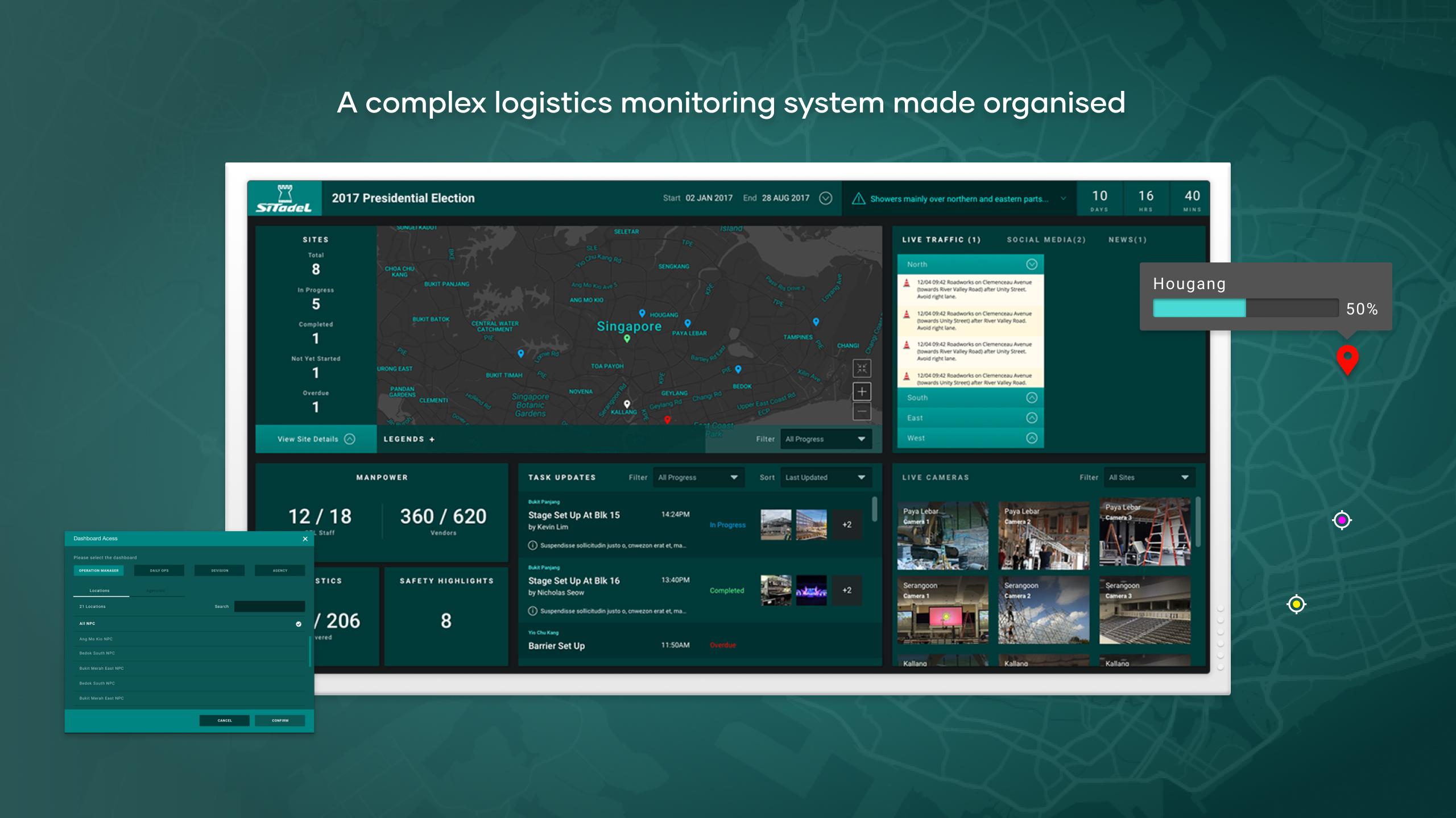 ST Logistics - portfolio mockup case study