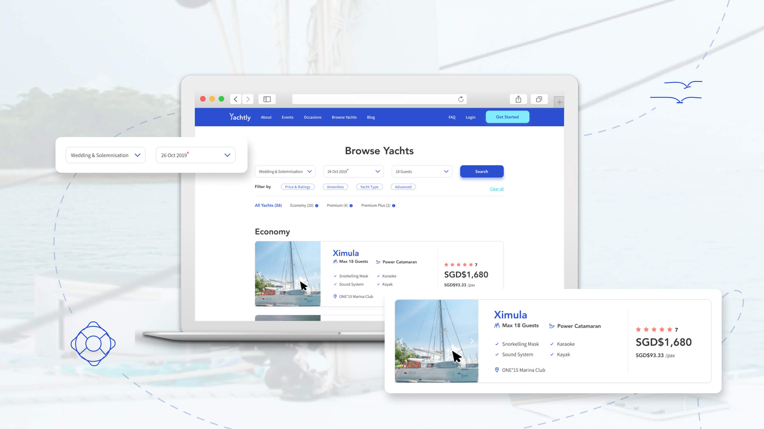 yachtly - portfolio mockup case study