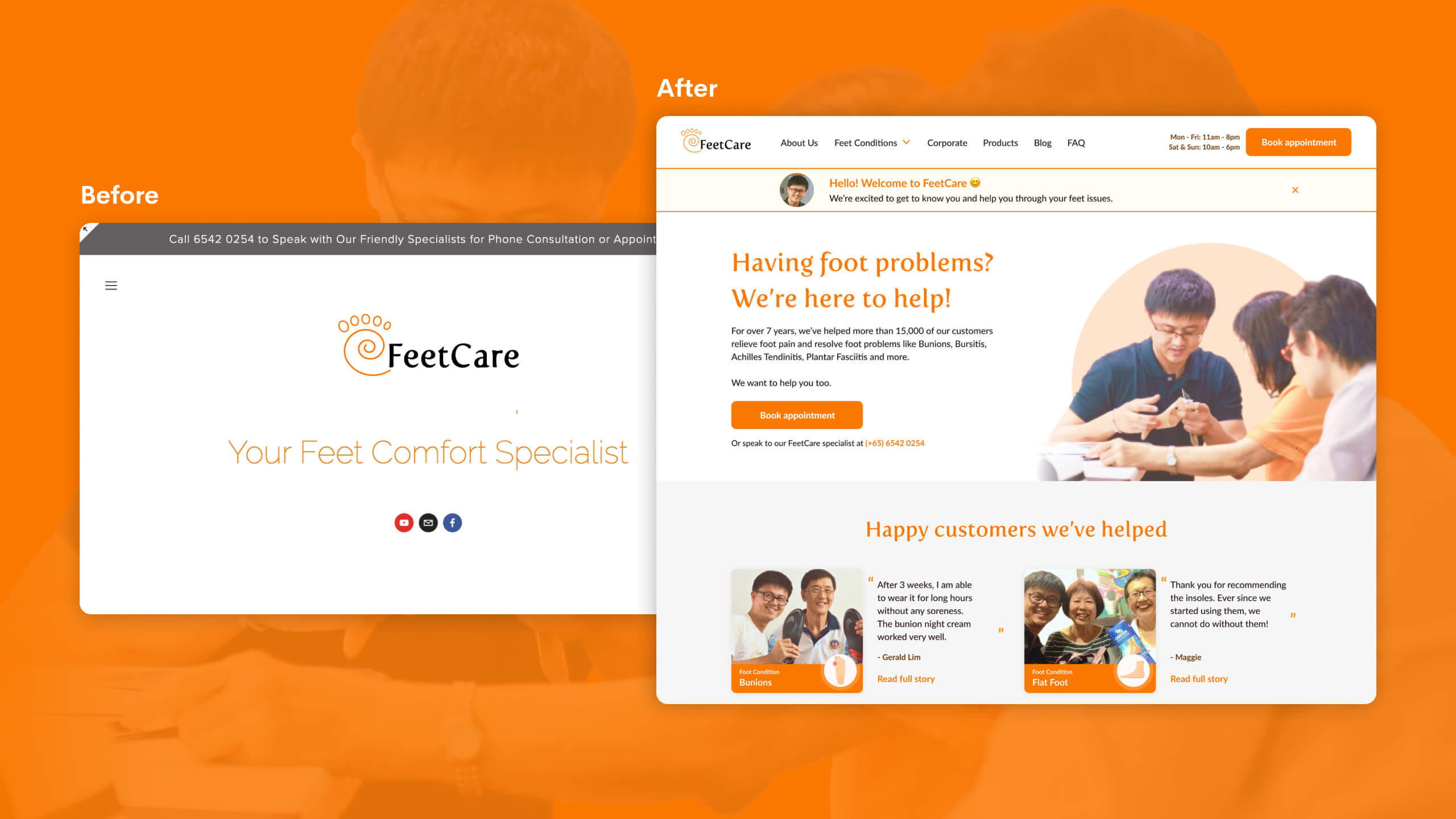 JIN Design client banner - Feetcare version 5