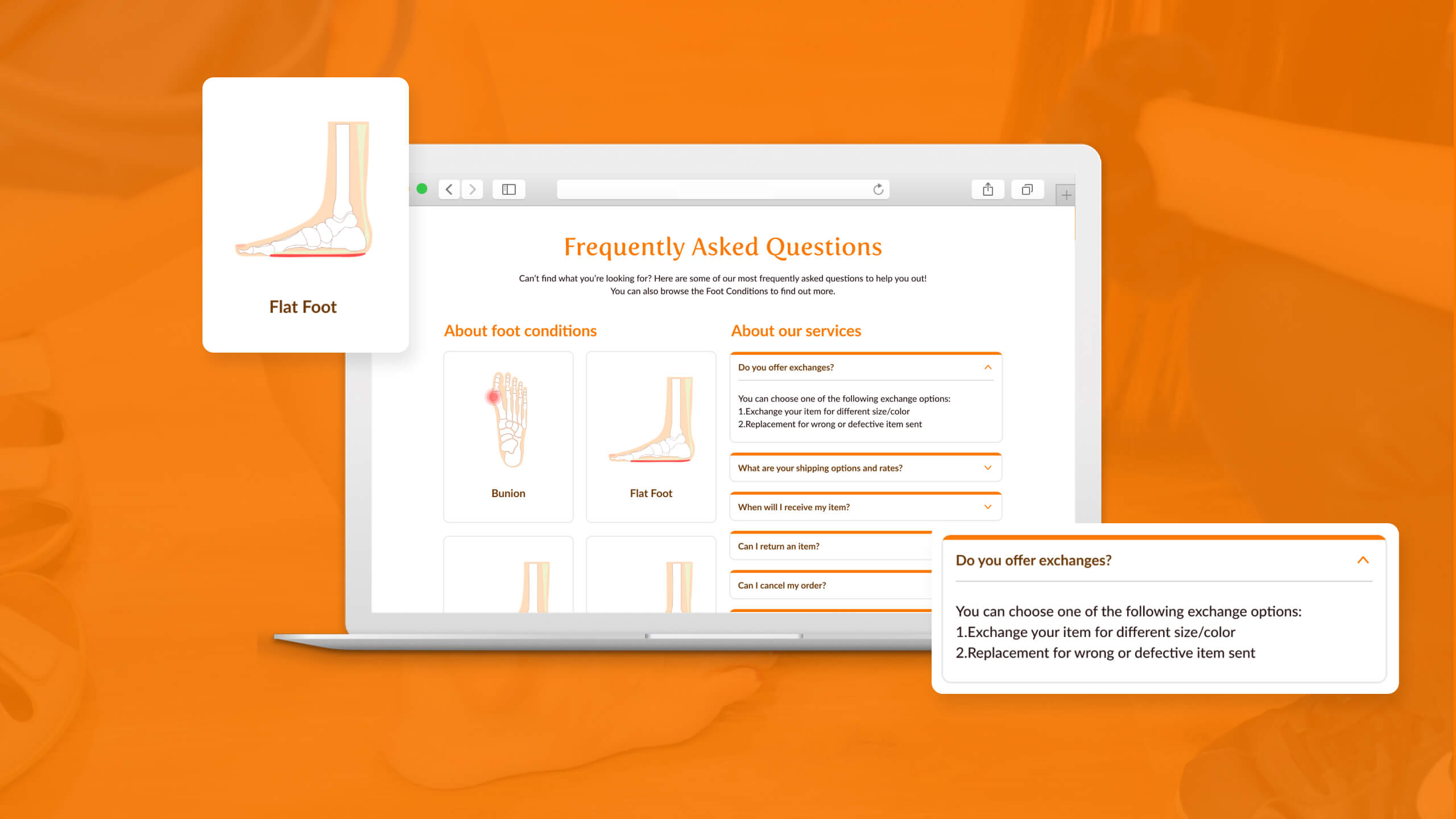 JIN Design client banner - Feetcare