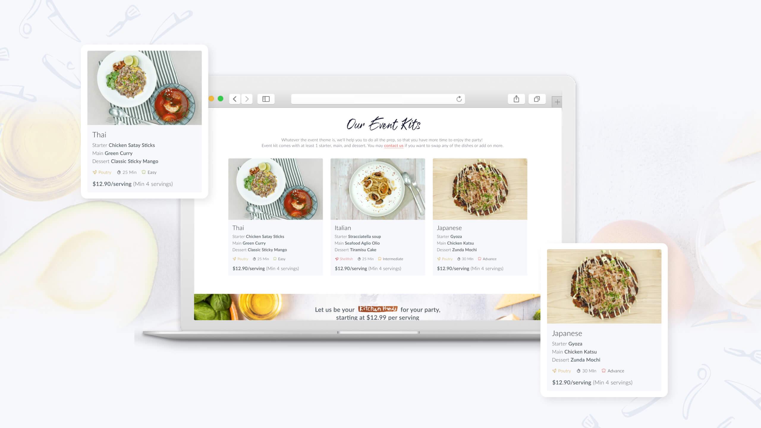 JIN Design client banner - Kitchen Hands version 4