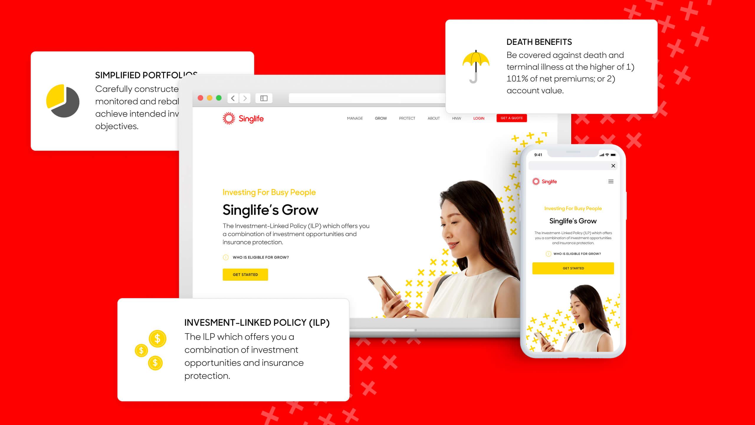 JIN Design client banner - Singlife version 2
