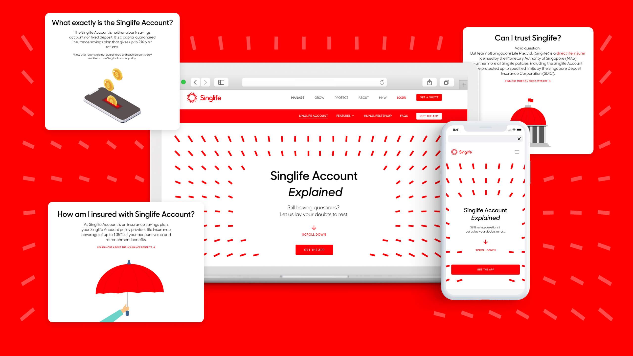 JIN Design client banner - Singlife