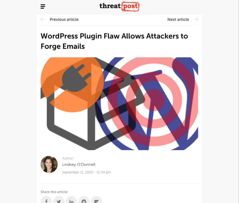 JIN Design thumbnail - WordPress plugins flaw allows attackers to forge emails