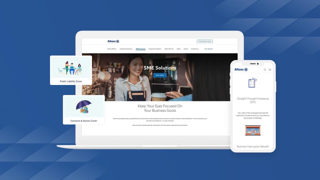 JIN Design Portfolio Thumbnail - Allianz