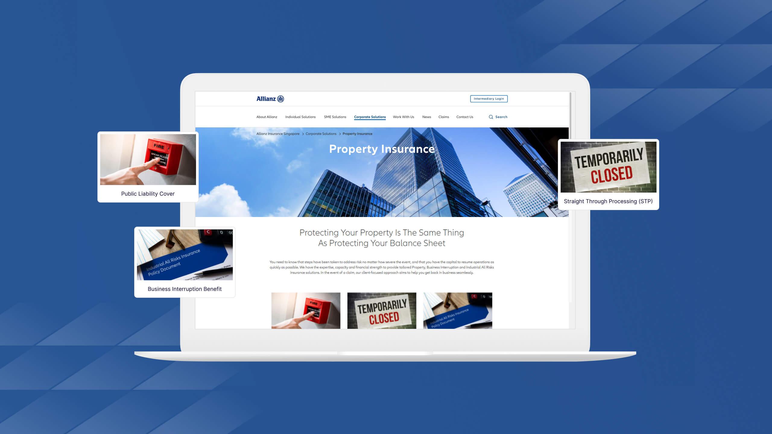 JIN Design Thumbnail Allianz Portfolio