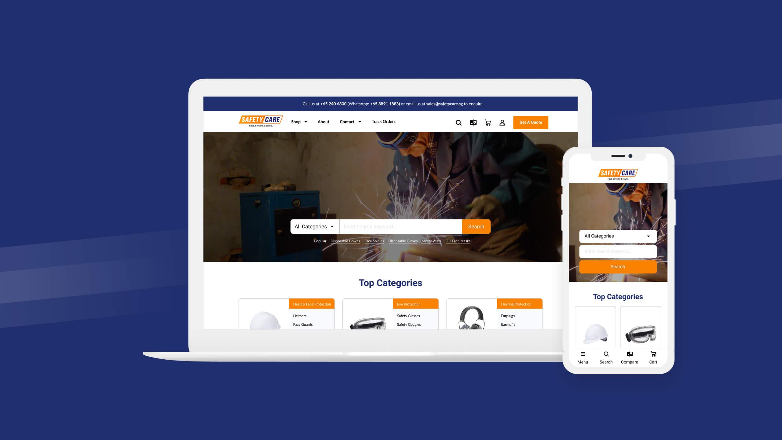JIN Design Portfolio thumbnail - SafetyCare